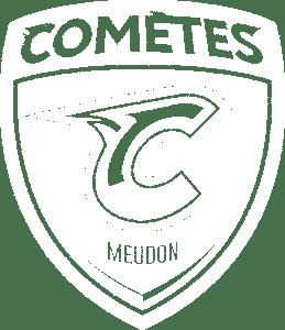 logo des comètes de Meudon noir & blanc