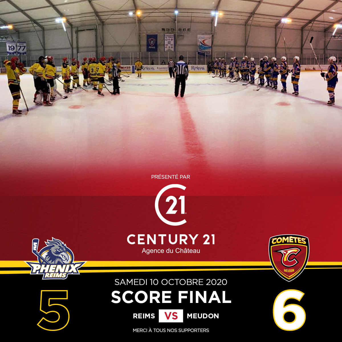 MHC2020 Score Match2 Reims Vs